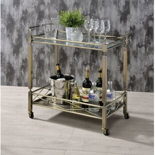 Ervin Metal Framed Bar Cart by Rosdorf Park