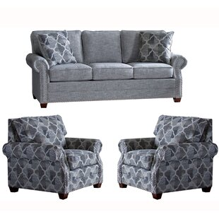 Online Reviews Peebles 3 Piece Living Room Set by Canora Grey