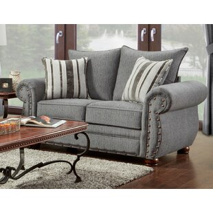 Conradine Platinum Stripe Loveseat