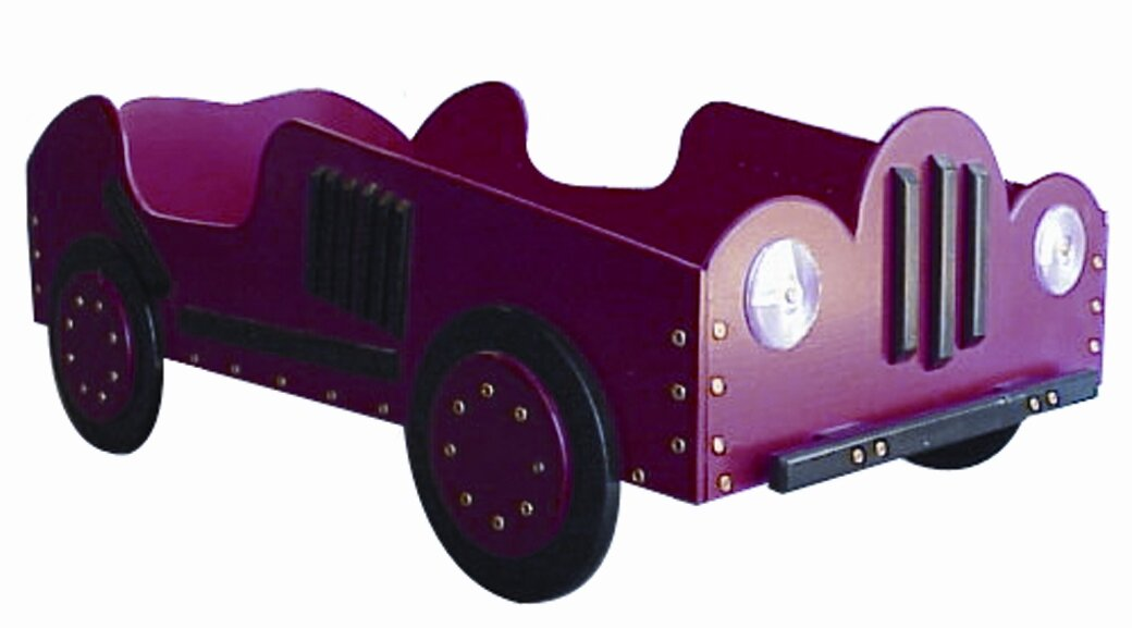 old style race toddler car bed