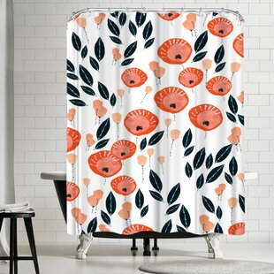 Rebecca Prinn Lollypop Flowers Single Shower Curtain by East Urban Home Purchase