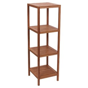 Household Essentials Bamboo Slatted Etagere Bookcase