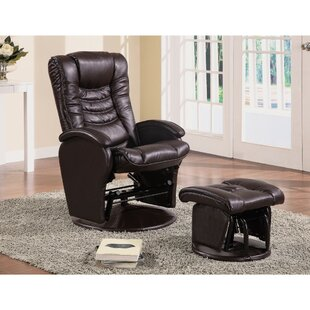 Acoff Practically Worth Glider Manual Swivel Recliner with Ottoman Latitude Run