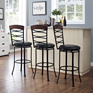 Jeremiah 46.25 Swivel Bar Stool Red Barrel Studio