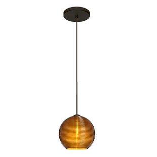 Kristall 1-Light Globe Pendant by Besa Lighting