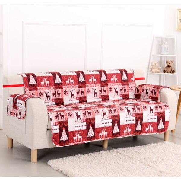 Pegasus Home Fashions Christmas Lodge Box Cushion Sofa Slipcover ...