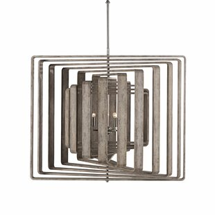 Nellcote Spiral 6-Light Chandelier by Resource Decor