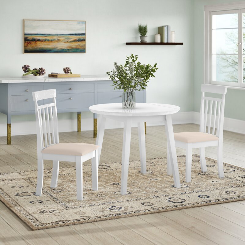 Breakwater Bay Inglewood Extendable Dining Set With 2 Chairs Reviews Wayfair Co Uk