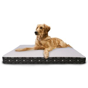Deluxe Paw Decor Memory Foam Dog Bed