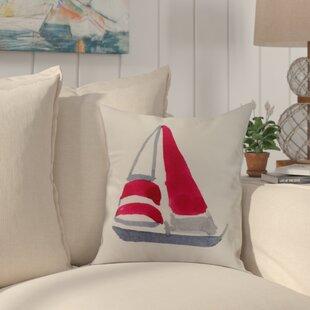 Crider Sail Away Print Indoor/Outdoor Throw Pillow