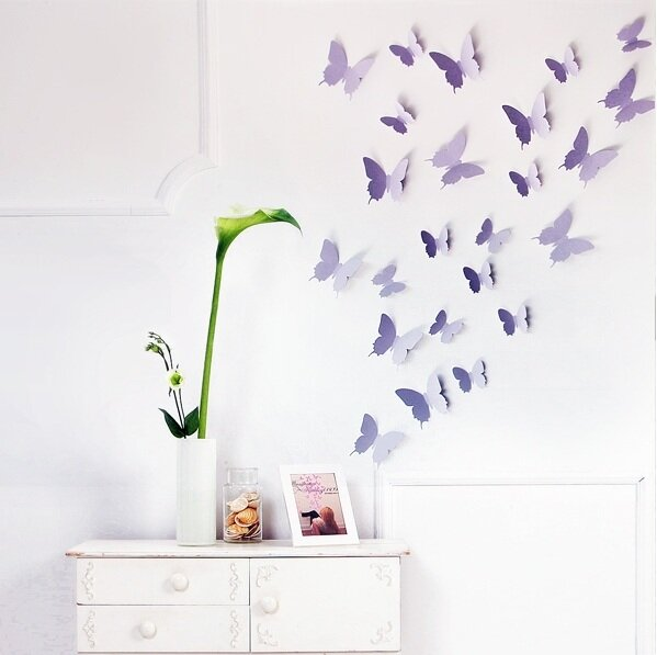 walplus 3d butterfly wall decal & reviews | wayfair