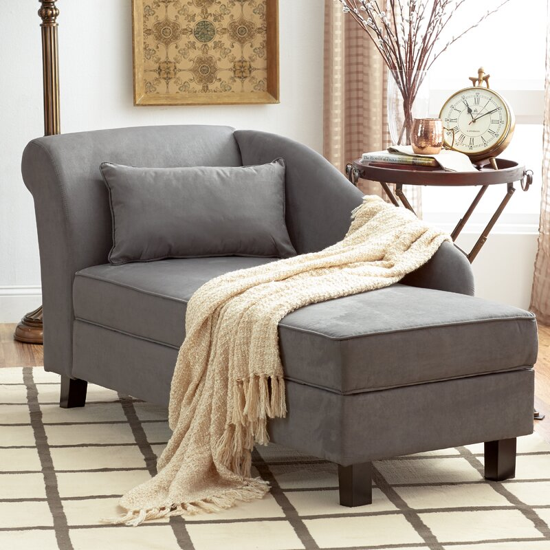 Three Posts Verona One Left Arm Chaise Recessed Arms Chaise Lounge With Storage Reviews Wayfair