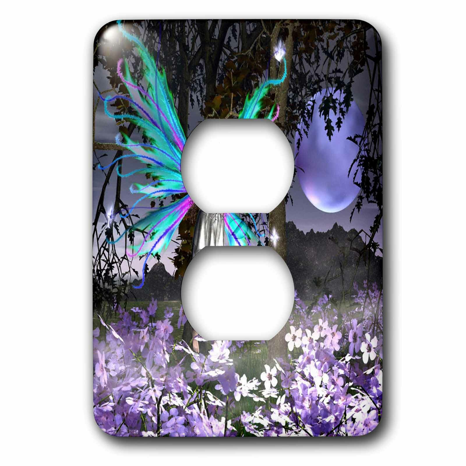 3drose Delighted A Fairy With Flowers 1 Gang Duplex Outlet Wall Plate Wayfair