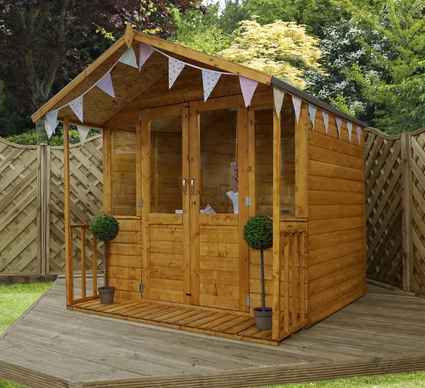 7 x 7 summerhouse with veranda