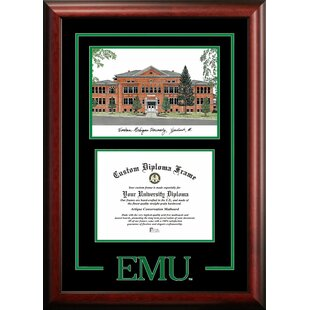 NCAA Eastern Michigan Spirit Graduate Diploma with Campus Images Lithograph Frame By Campus Images