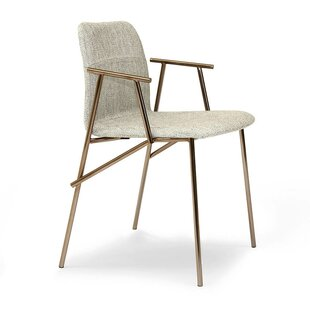 Alunna Genuine Leather Upholstered Dining Chair