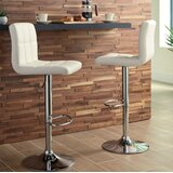 Friedland Adjustable Height Swivel Bar Stool (Set of 2) by Orren Ellis