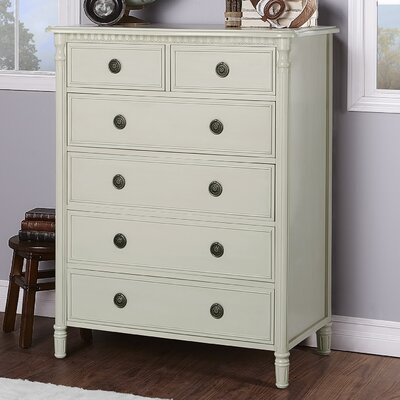Julienne 6 Drawer Chest Evolur Color: Beige