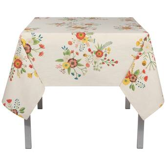 Dakota Fields Geise100 Cotton Square Tablecloth Reviews Wayfair