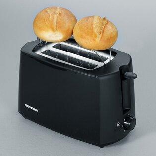 Toaster für 2 Scheiben   Küche und Esszimmer > Küchengeräte > Toaster   Schwarz   Kunststoff   Severin