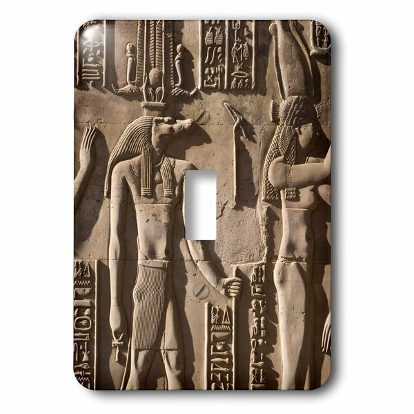Egypt Hieroglyphics 1-Gang Toggle Light Switch Wall Plate by 3dRose