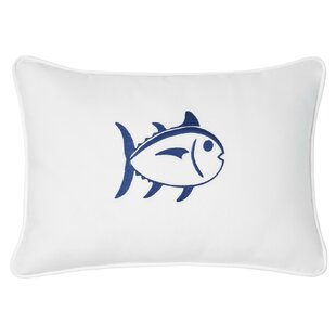 Skipjack Decorative Cotton Lumbar Pillow