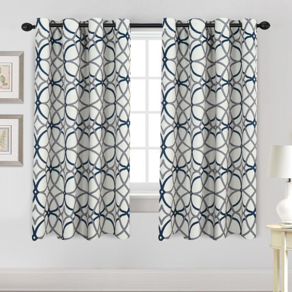 Mercer41 Indy Geometric Room Darkening Thermal Grommet Curtain Panels    WayfairWayfair
