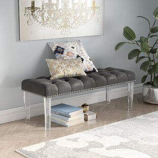 Mercer41 Adcock Button Tufted Upholstered Bench