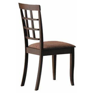 Red Barrel Studio Ismail Solid Wood Dining Chair (Set of 2)
