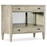 Sanctuary 2 Gemme 2 Drawer Solid Wood Nightstand Silver by Hooker Furniture