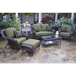 Carlock 6 Conversation Sofa Set with Cushions by Darby Home Co