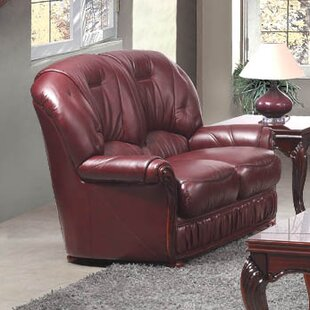 Deborah Leather 2 Seater Sofa By Astoria Grand