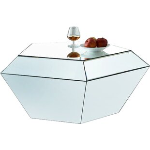 Bargain Nevarez Mirrored Coffee Table by House of Hampton Reviews (2019) & Buyer's Guide