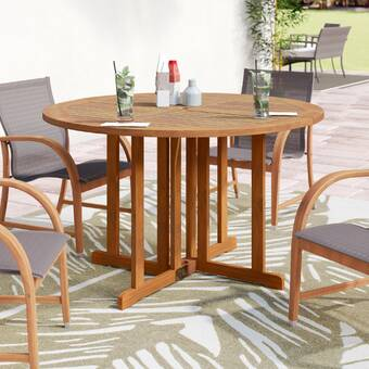 Bayou Breeze Fabius Folding Solid Wood Dining Table