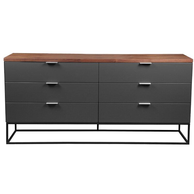 17 Stories  Agantha 6 Drawer Double Dresser