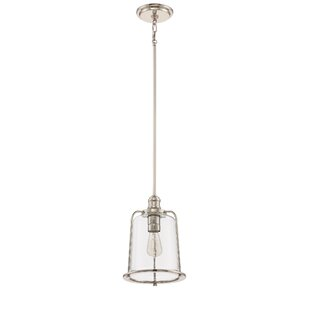 Armina 1-Light Bell Pendant by Longshore Tides
