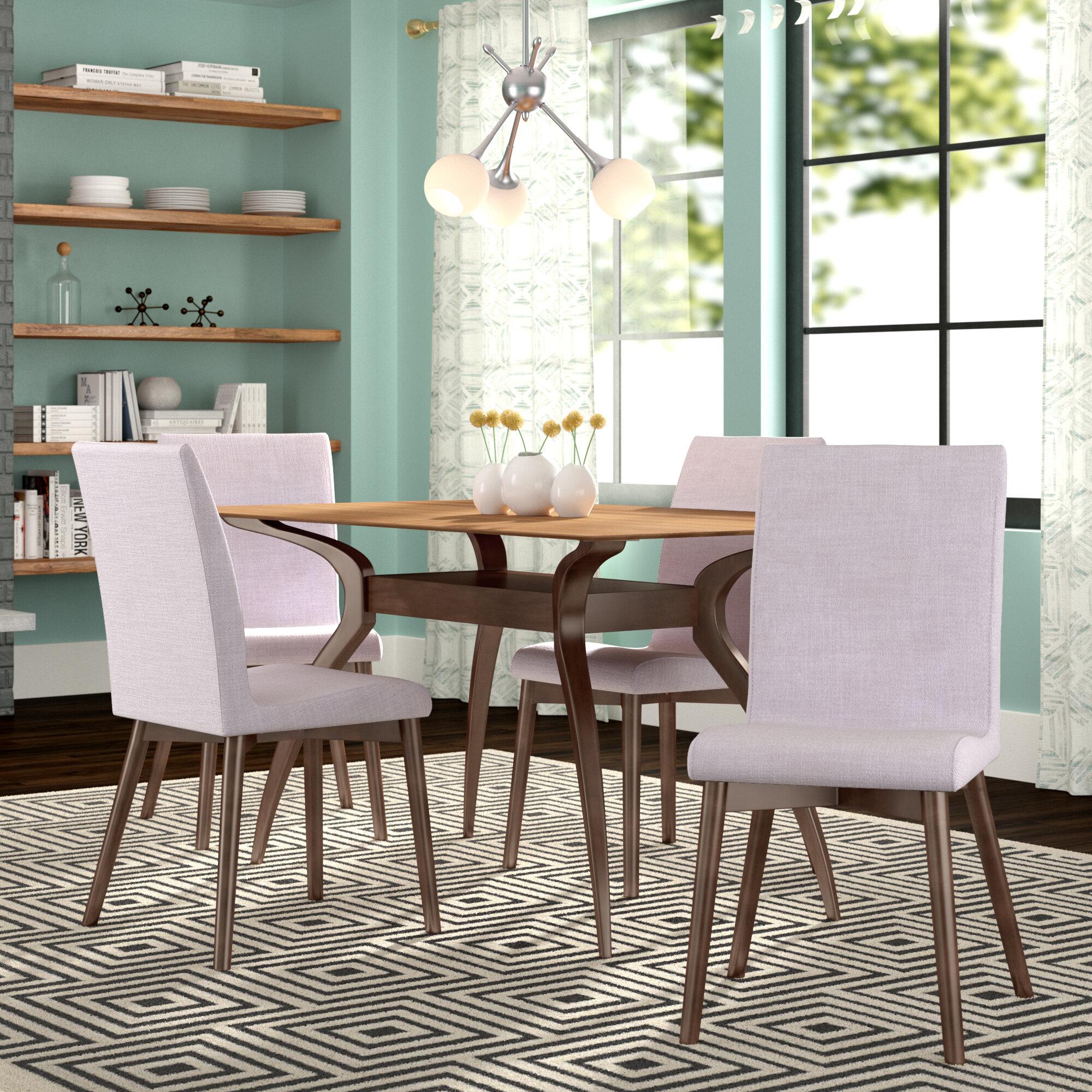 Liles 5 piece dining set reviews allmodern