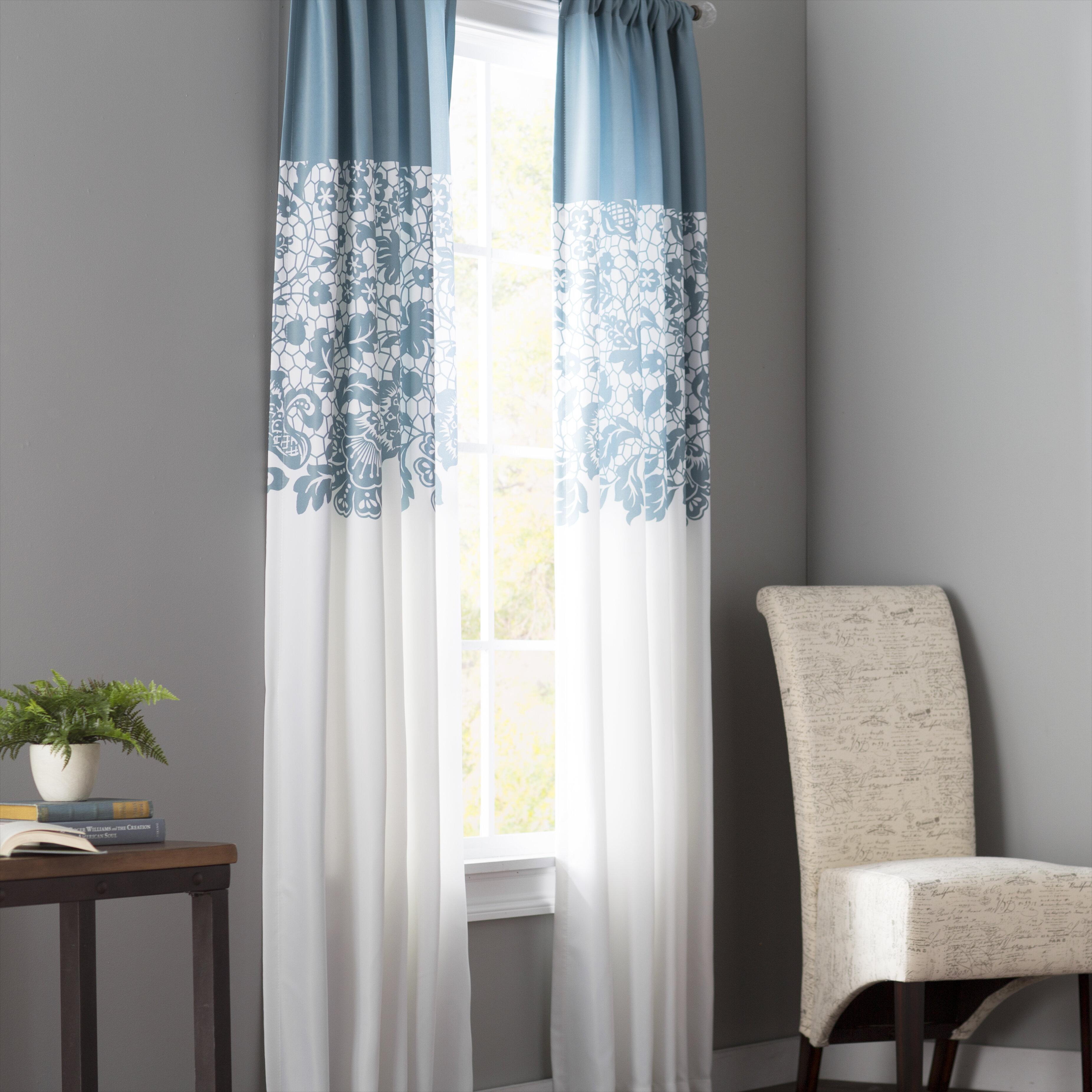 Red Barrel Studio Santa Fe Print Floral Room Darkening Thermal Rod Pocket Curtain Panels Reviews Wayfair
