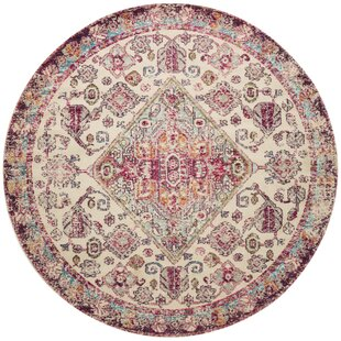 Lorenz Aqua/Pink Area Rug by Bungalow Rose