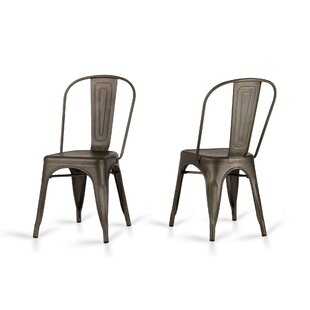 Laurel Foundry Modern Farmhouse Drummond Rust Metal Dining Chair (Set of 2)