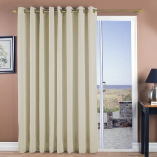 New Castle Patio Solid Room Darkening Grommet Single Curtain Panel by Ricardo Trading