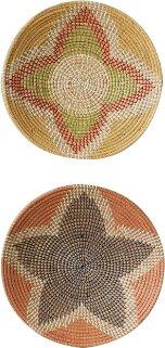 2 Piece Seagrass Basket Wall Decor Set