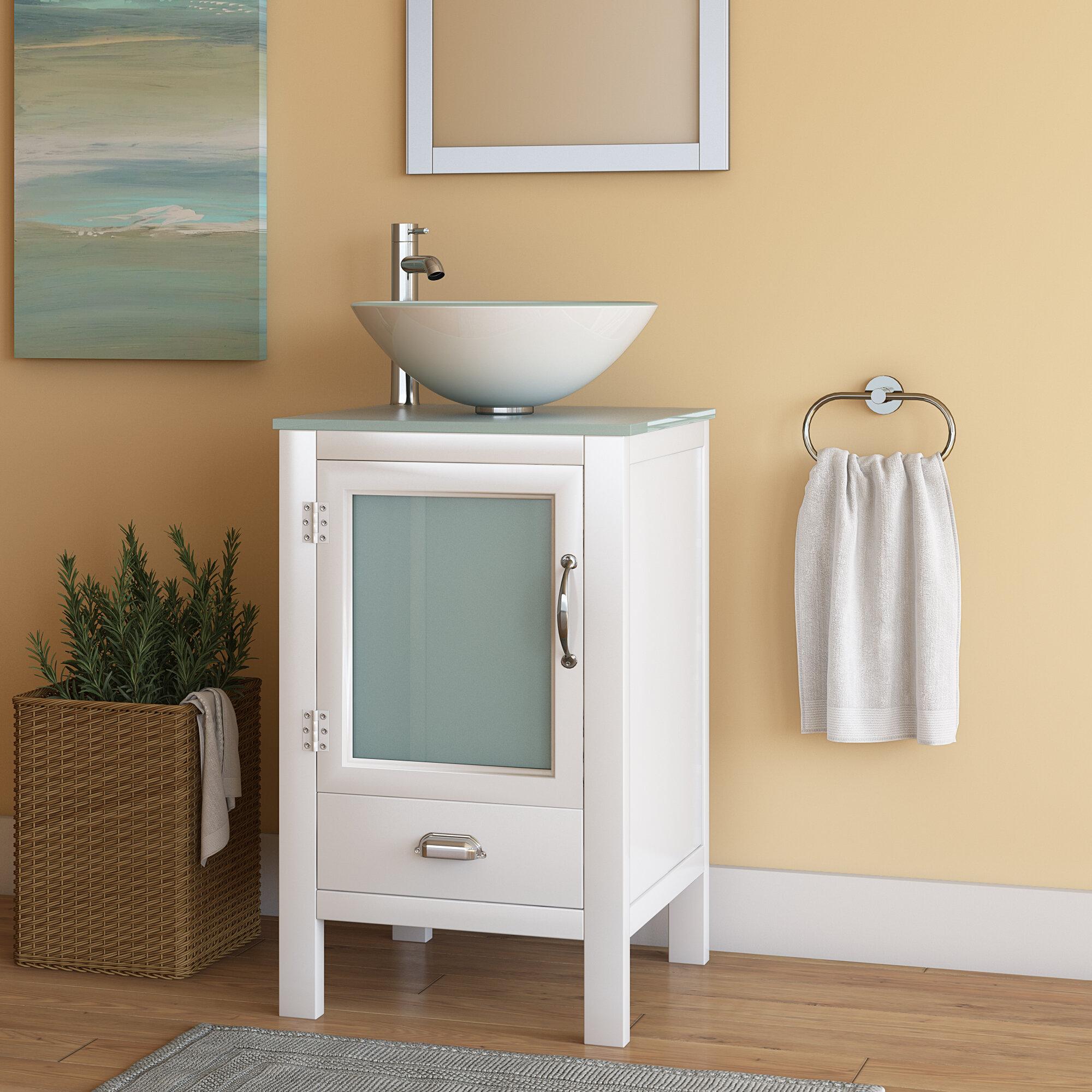 Ebern Designs Francey 19 Single Bathroom Vanity Set Reviews Wayfair