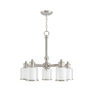 Red Barrel Studio Lisle 5-Light Shaded Chandelier