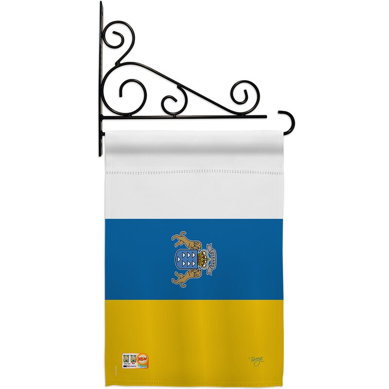 Breeze Decor Canary Islands 2 Sided Polyester 19 X 13 In Flag Set Wayfair