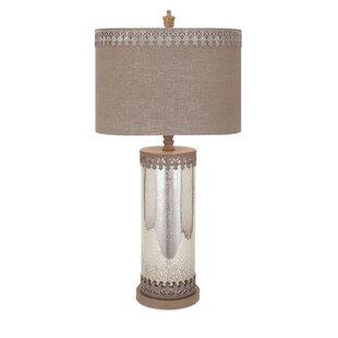 Yaretzi Attractive Mercury Glass Table Lamp
