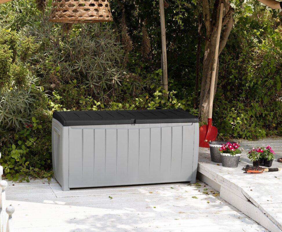 Novel 90 Gallon Resin Storage Deck Box