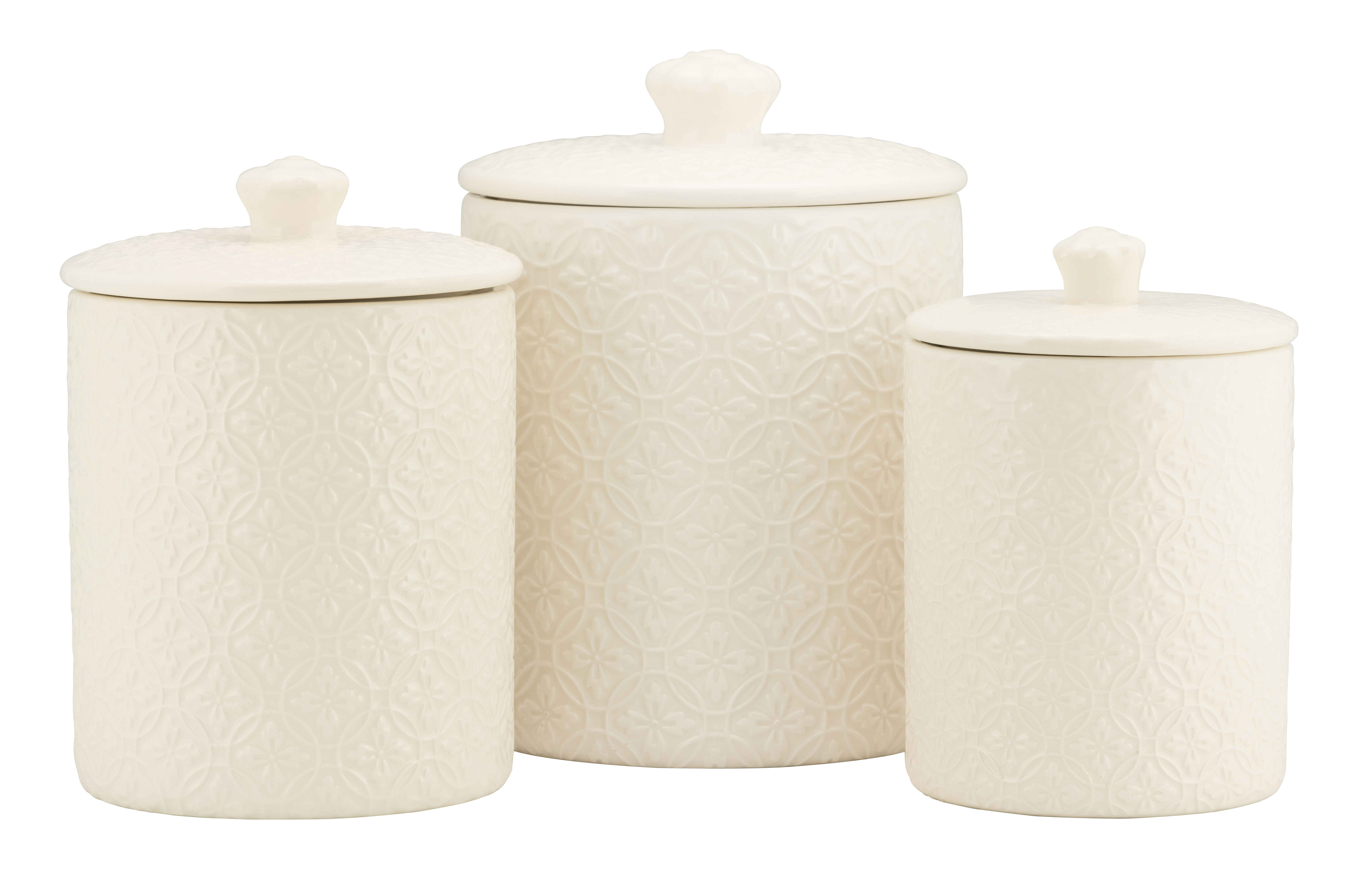 Embossed 11 Piece Kitchen Canister Set