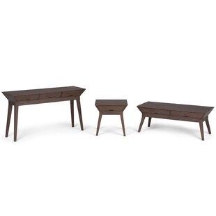Corrigan Studio Alderete 3 Piece Coffee Table Set