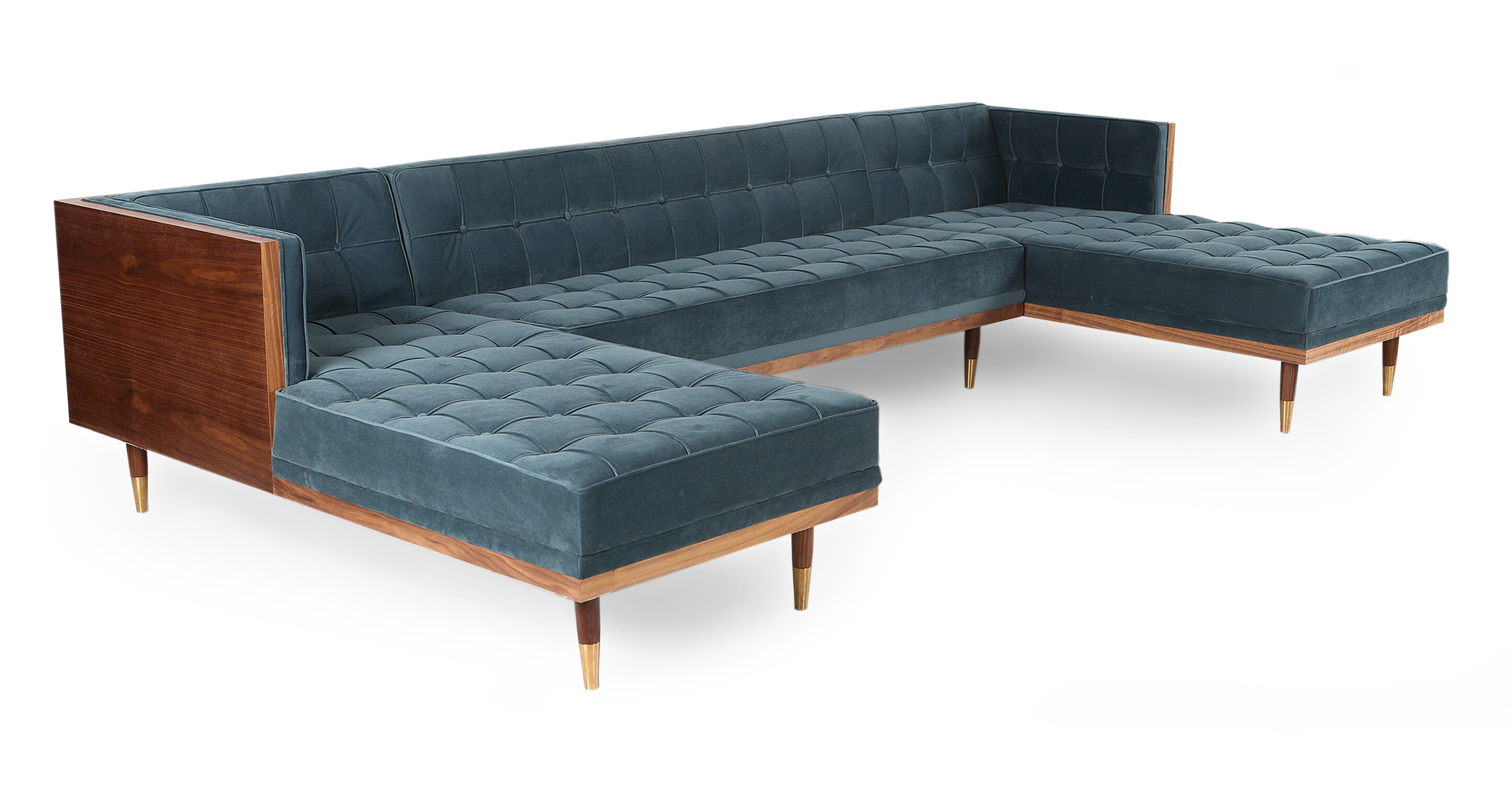 Carey Box Sofa U Shaped Modular Sectional